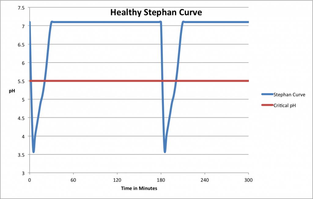 Healthy diet Stephan Curve