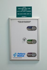 gas minfolds in dental anesthesia office