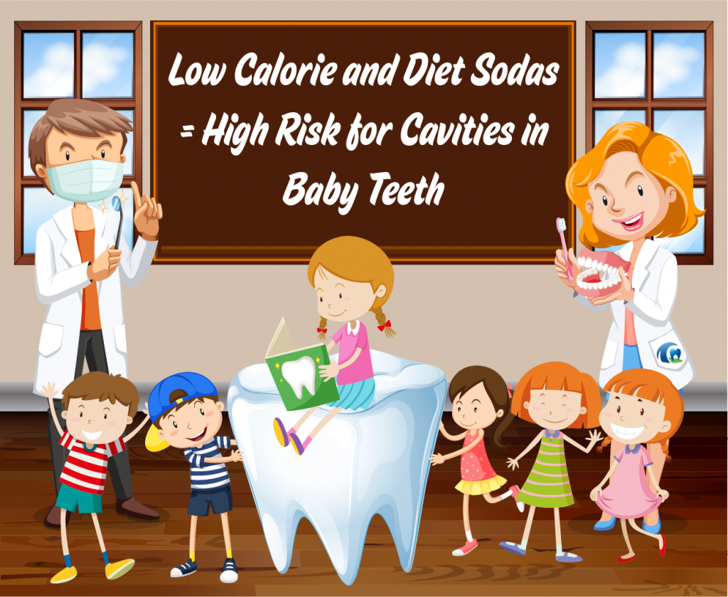 Dentist discussing how diet soda is bad for teeth